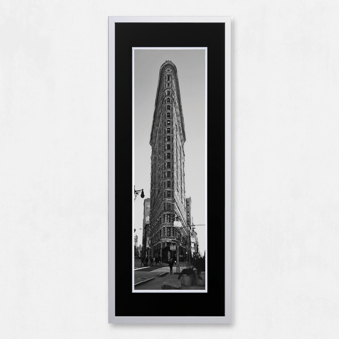 SHH Interiors Framed Flat Iron Building with Liquid Glass and Swarovski Crystals 40 x 100cm