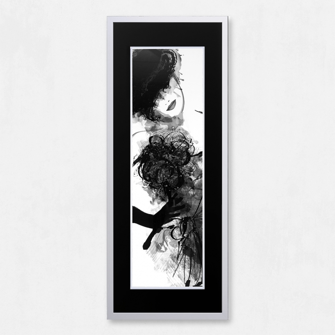 SHH Interiors Framed Woman with Liquid Glass and Swarovski Crystals 40 x 100cm