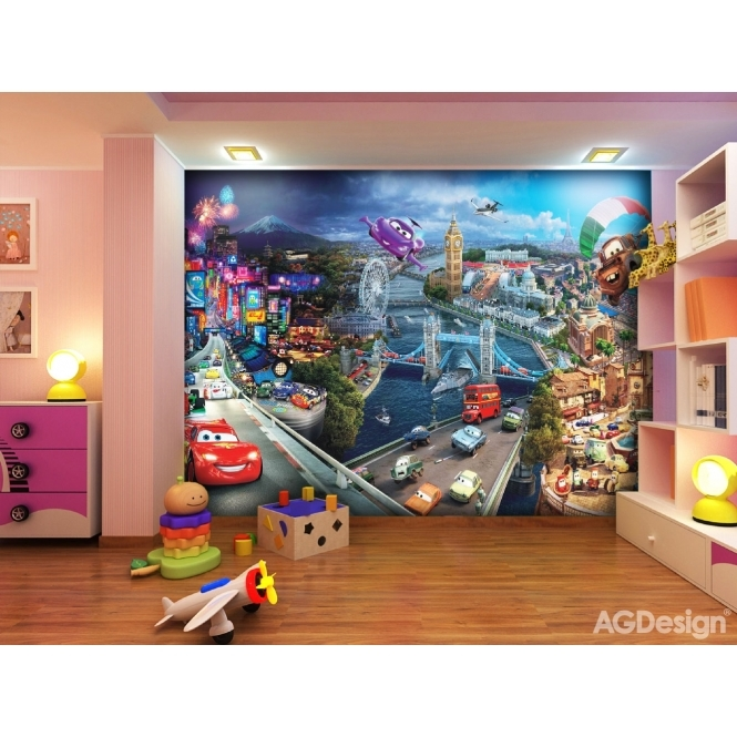 FTD 0287 PHOTO DISNEY CARS 2 MIX COLLAGE Dimensions: 360 x 254 cm