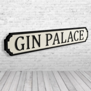 Gin Palace Vintage Road Sign / Street Sign | For The Gin Lovers