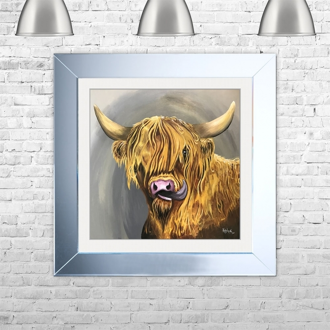 SHH Interiors HIGHLAND TONGUE Framed Liquid Artwork