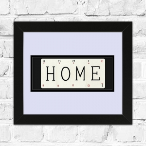 HOME Framed Playing Cards | Great Gift For New A House Move!