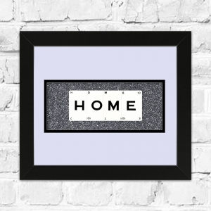 HOME Framed Playing Cards | Great Gift For New House Move