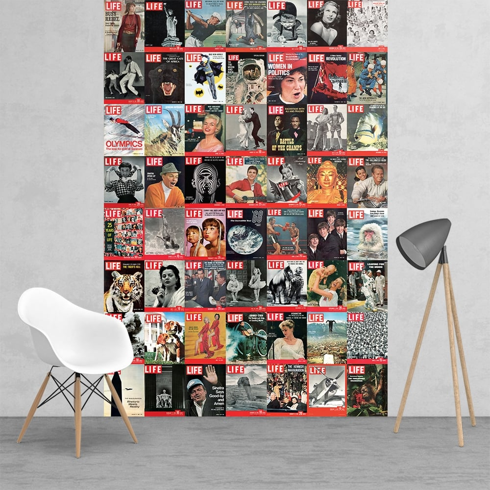 Iconic life magazine covers beatles man on the moon for Beatles wall mural