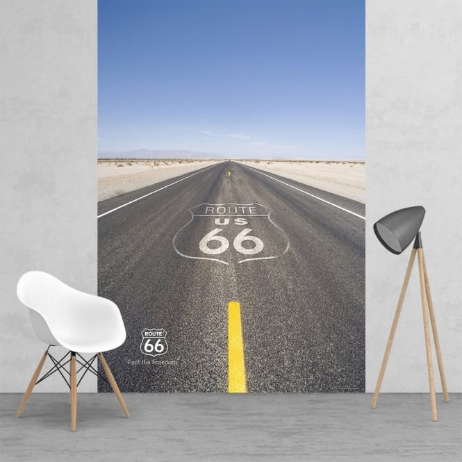 1Wall Iconic Route 66 US Feature Wall Wallpaper Mural | 158cm x 232cm