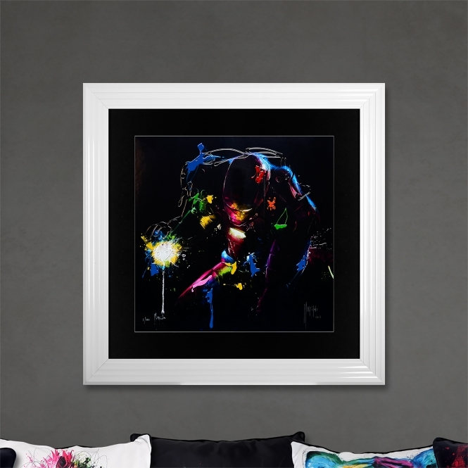 Patrice Murciano Iron Man Limited Edition Framed Liquid Artwork Signed with Limited Edition Number