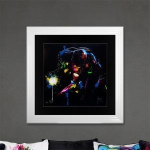 Iron Man Limited Edition Framed Liquid Artwork Signed with Limited Edition Number