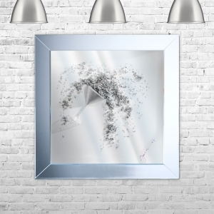 ICE MARTINI 3D Framed Liquid Artwork | 75cm x 75cm