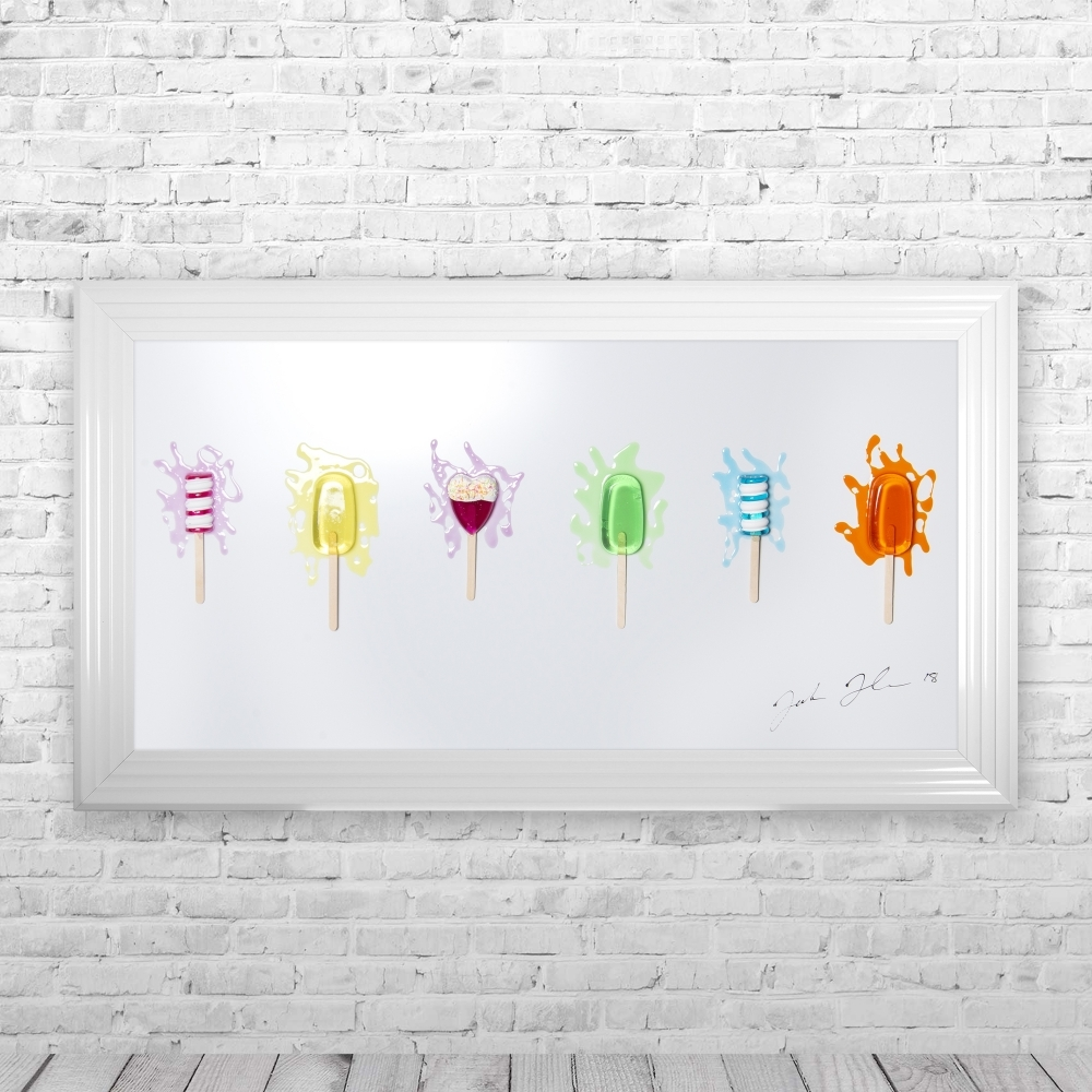 Lollies with Hundreds and Thousands Framed 3D Liquid Artwork