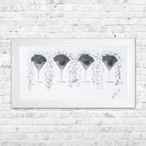 Martini Glasses Framed 3D Liquid Artwork