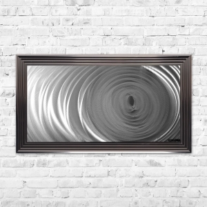 Swirl Aluminium Panel Framed Artwork