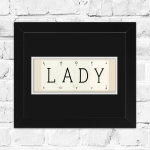 LADY Framed Playing Cards | Perfect Gift for a Girls Room