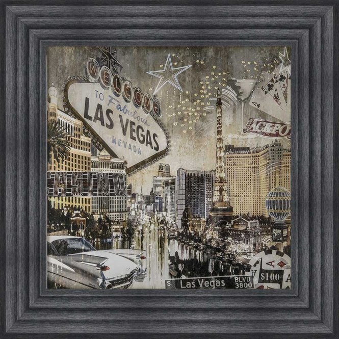LAS VEGAS MONTAGE FRAMED WALL ART