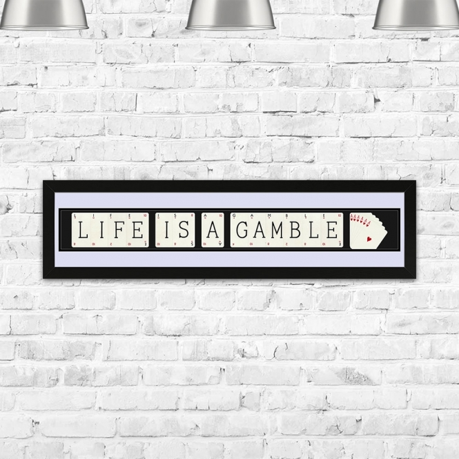The Playing Card Co. Life Is A Gamble Vintage Framed Playing Card Quote