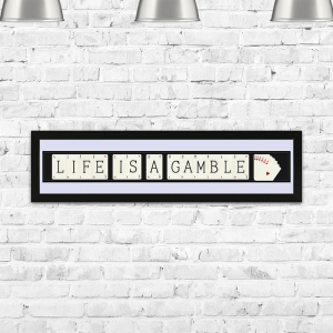 Life Is A Gamble Vintage Framed Playing Card Quote