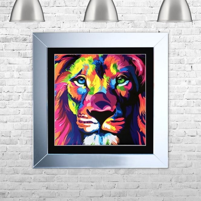 SHH Interiors LION Framed Liquid Artwork