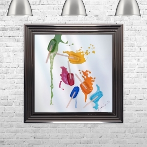 LOLLY 1 FALL Multi Colour Liquid Art | JAKE JOHNSON | 75cm x 75cm