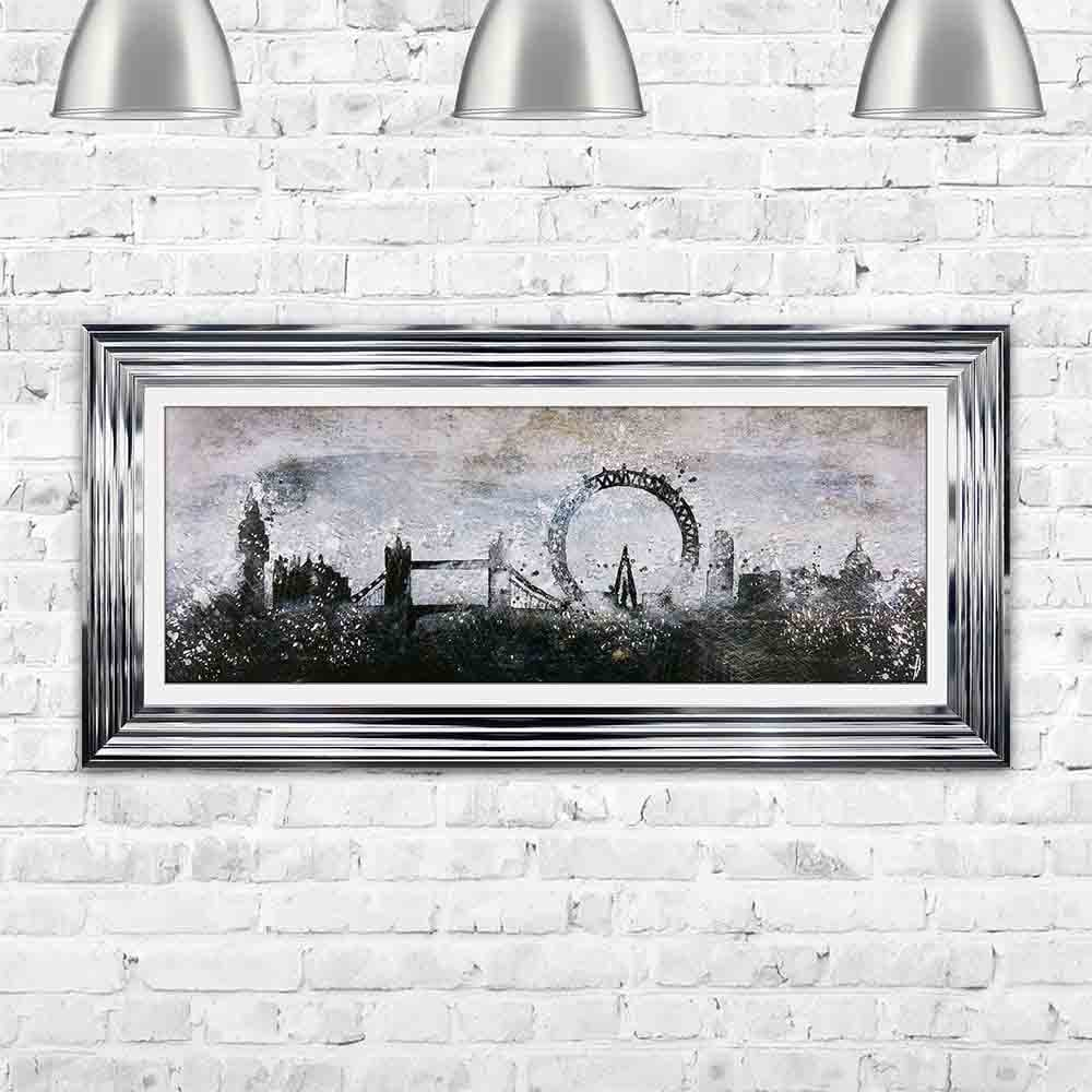 London abstract sketch framed wall art