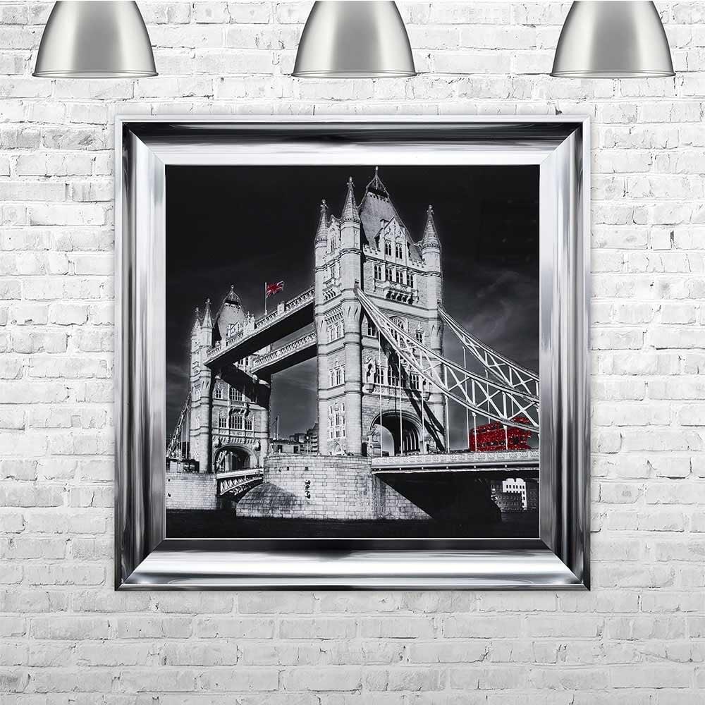 London bus framed wall art by shh interiors