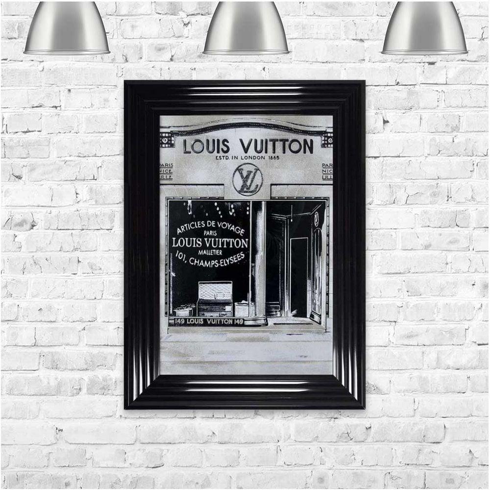 LOUIS VUITTON SILVER FRAMED WALL ART - FRAMED ART & WALL ...