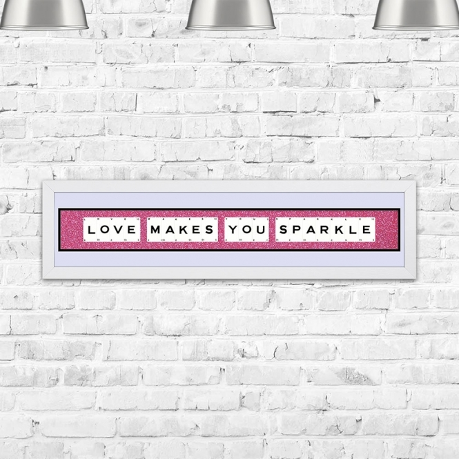 The Playing Card Co. Love Makes You Sparkle Framed Playing Cards