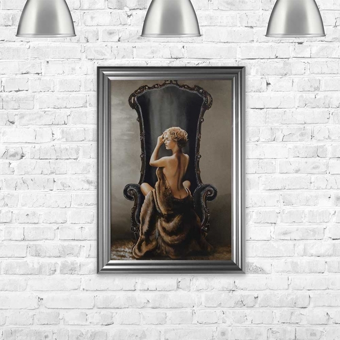 LOVELY LADY FRAMED WALL ART