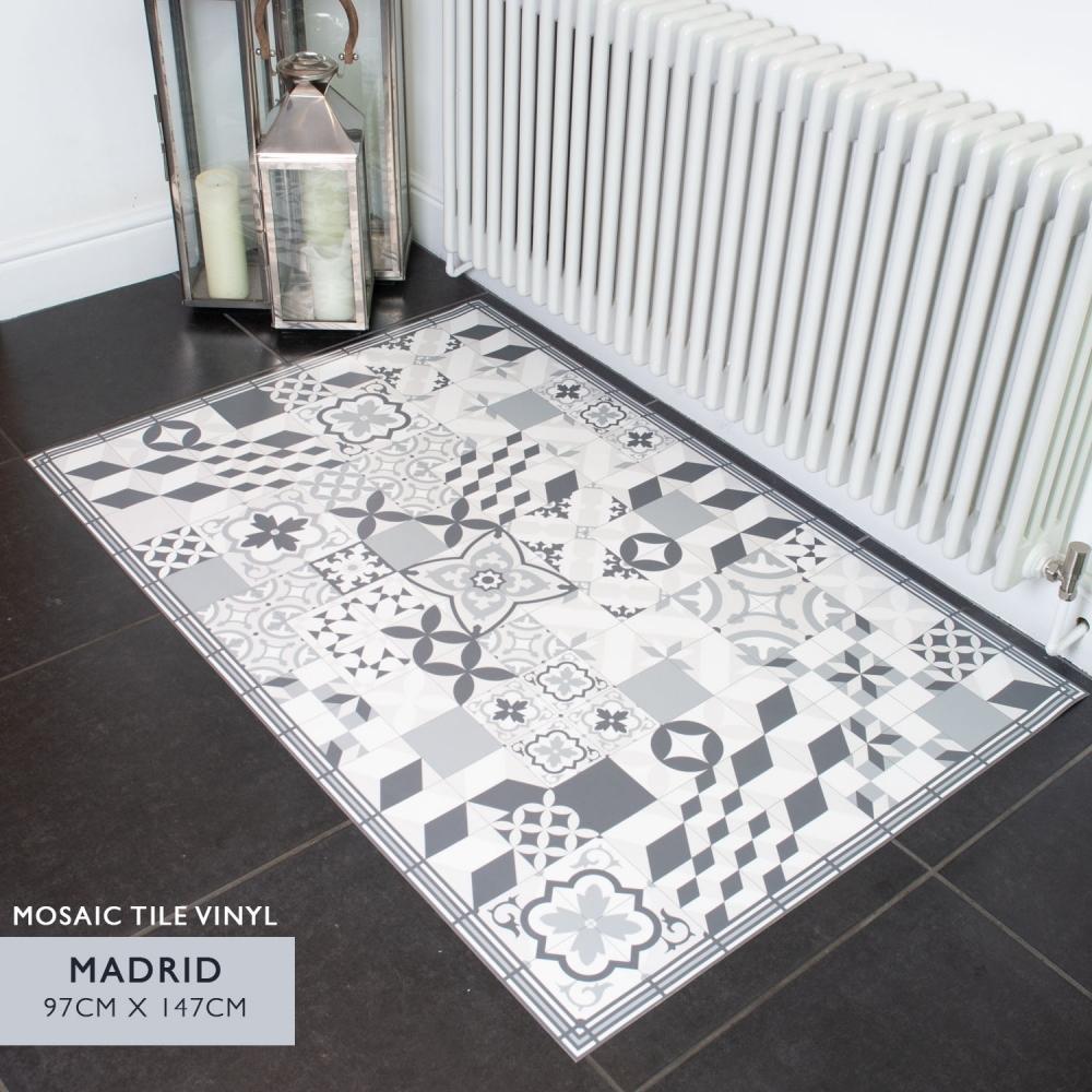 Mosaic Tile Vinyl Floor Decor 97cm X 147cm