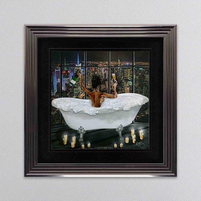 Biggon Midnight Bath Celebration With Candles Framed Wall Art 1wall