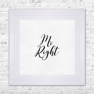 MR RIGHT Print Framed Liquid Artwork and Swarovski Crystals