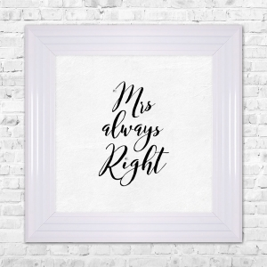 MRS RIGHT Print Framed Liquid Artwork and Swarovski Crystals
