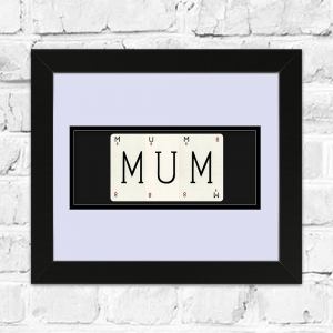 MUM Framed Playing Cards