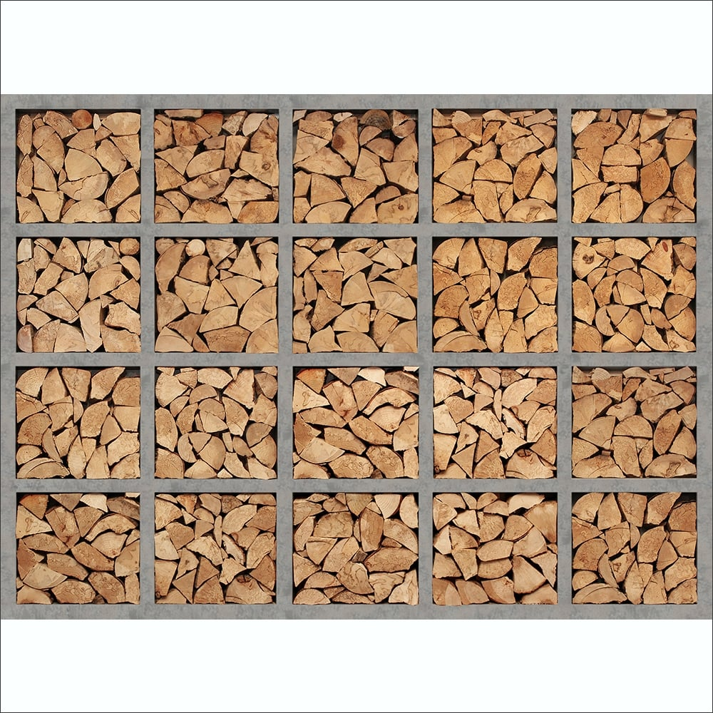 Wood Wall Mural stacked fire wood logs wall mural | 315cm x 232cm