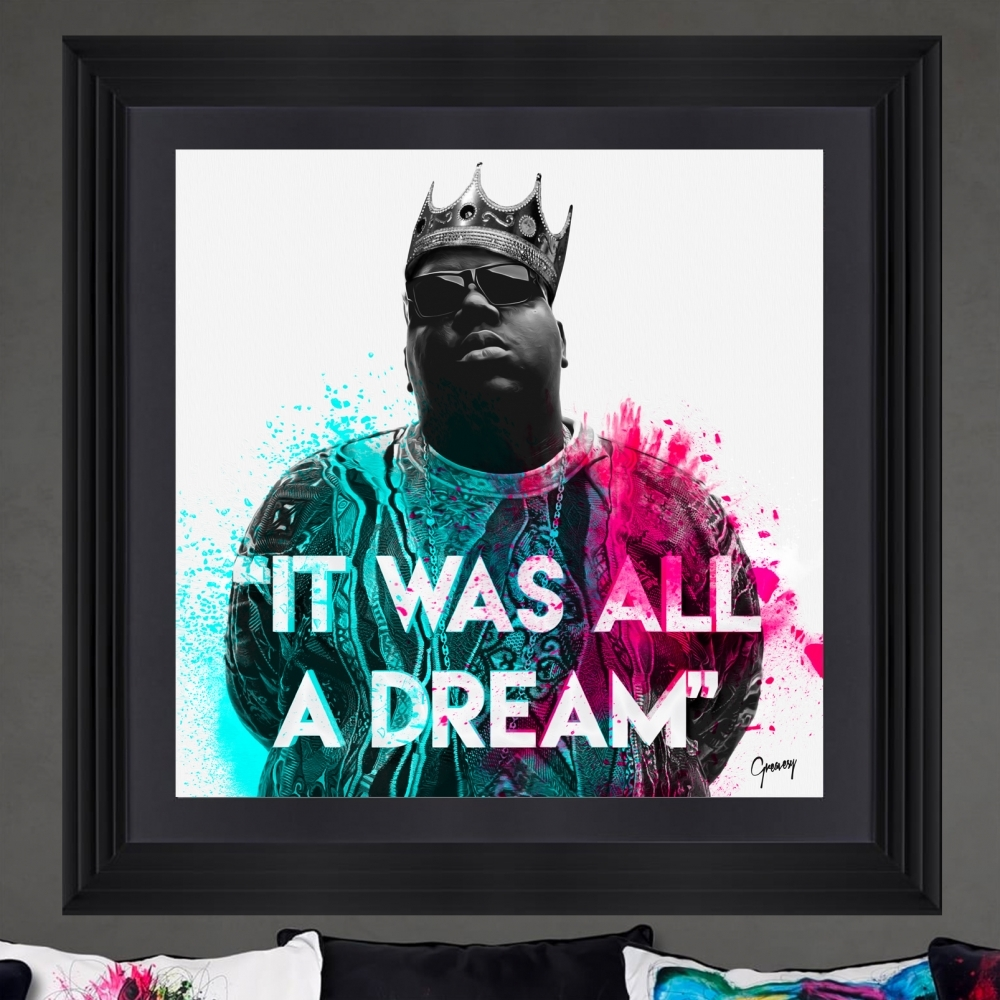 Notorious B.I.G | Biggie Smalls Framed Artwork by Greavesy | White ...