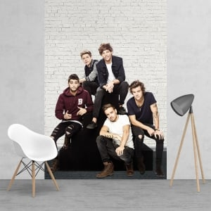 One Direct 1D Boy Band Harry Louis Niall Liam Zayn Feature Wallpaper Mural | 158cm x 232cm