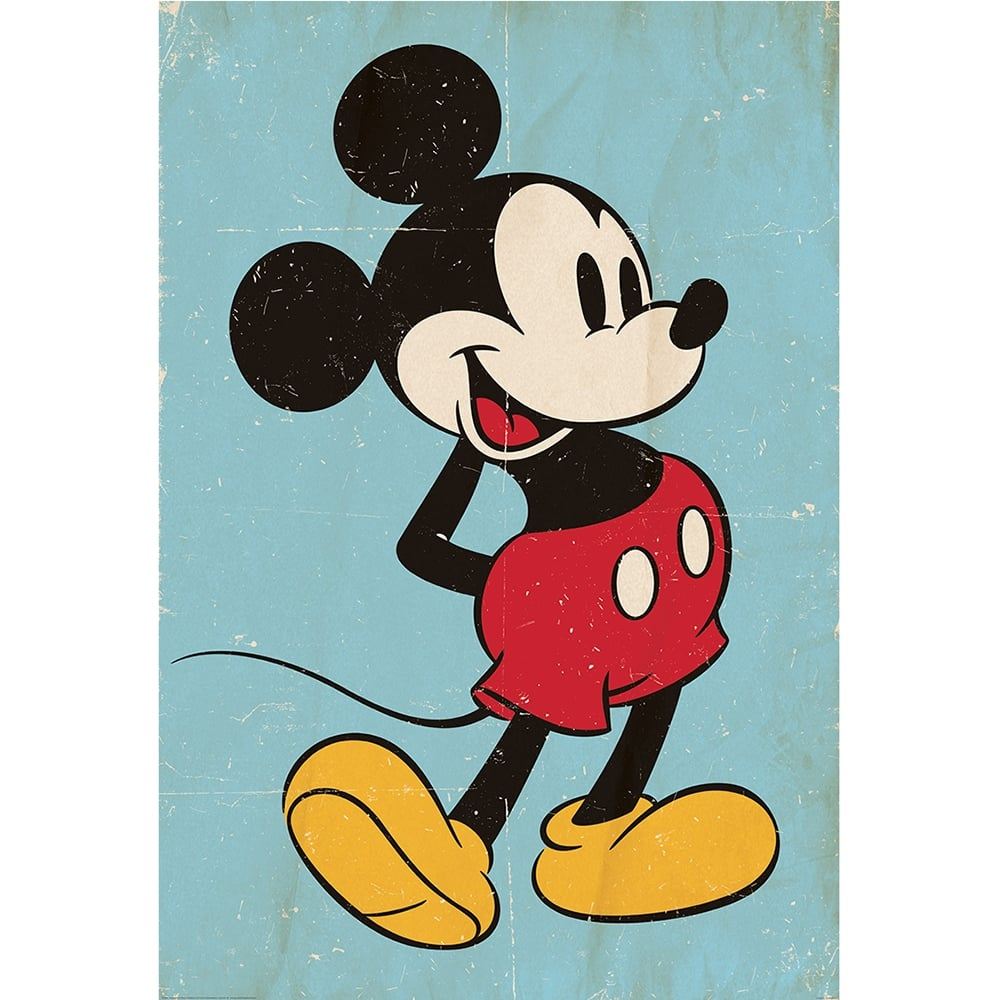 Disney Mickey Mouse Classic Vintage Style Feature Wall Wallpaper