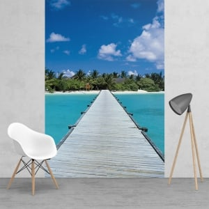 Paradise Maldives Dream Jetty Feature Wall Wallpaper Mural 2 Piece Murals | 158cm x 232cm