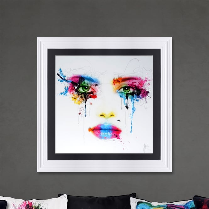 Patrice Murciano 90x90 COLORS 'FACE' Framed Picture