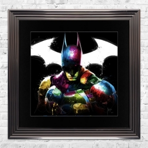 Batman Limited Edition Framed Liquid Artwork Signed with Limited Edition Number