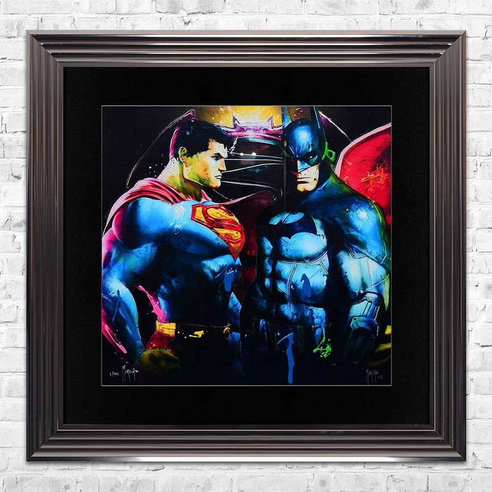 Patrice Murciano BATMAN VS SUPERMAN Limited Edition Framed Liquid ...