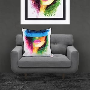 Patrice Murciano Bouddha Fe ng Shui 'COCO CHAPEAU HAT' Luxury Feather Filled Cushion | 55cmx 55cm