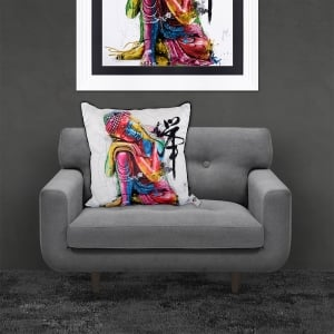 Patrice Murciano Bouddha Feng Shui 'BUDDHA' Luxury Feather Filled Cushion | 55cmx 55cm