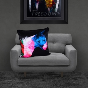 Patrice Murciano Bull Pop Luxury Feather Filled Cushion | 55cmx 55cm