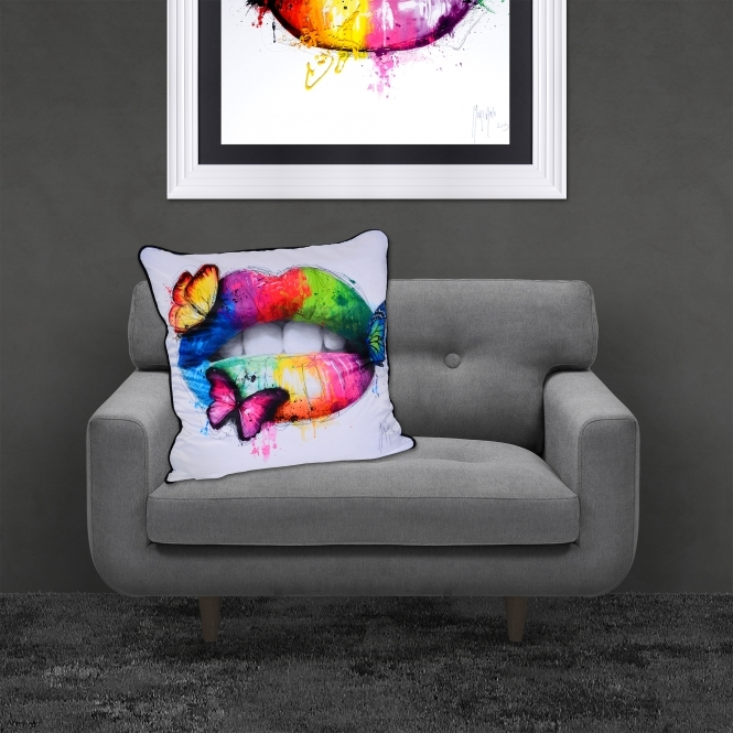Patrice Murciano Butterfly Kiss Luxury Feather Filled Cushion | 55cmx 55cm
