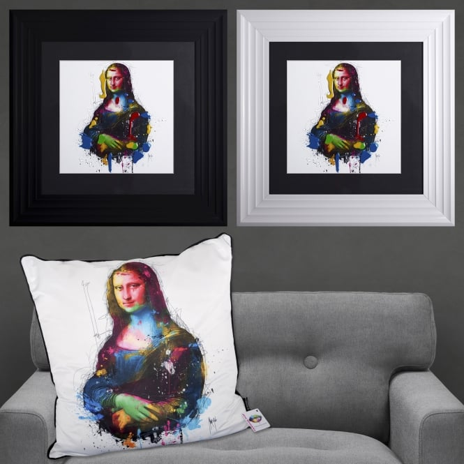 Patrice Murciano Da Vinci Pop Mona Lisa Framed Artwork 55cm x 55cm