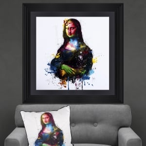 Patrice Murciano Da Vinci Pop Mona Lisa Framed Artwork 90cm x 90cm