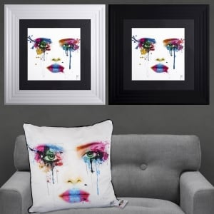 Patrice Murciano Face Framed Artwork 55cm x 55cm
