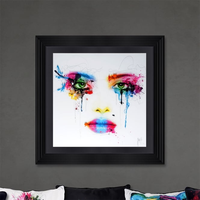 Patrice Murciano Face Framed Artwork 90cm x 90cm