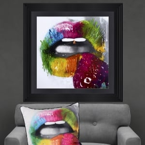 Patrice Murciano Fruity Kiss 2 Framed Artwork 90cm x 90cm