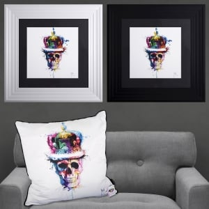 Patrice Murciano God Save The queen Skull Framed Artwork 55cm x 55cm