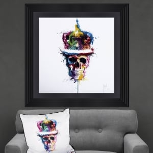 Patrice Murciano God Save The queen Skull Framed Artwork 90cm x 90cm